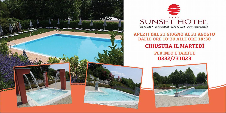 Estate in piscina al sunset hotel vivivarese for Sunset lodge