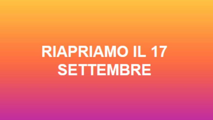 Robarello torna il 17 settembre