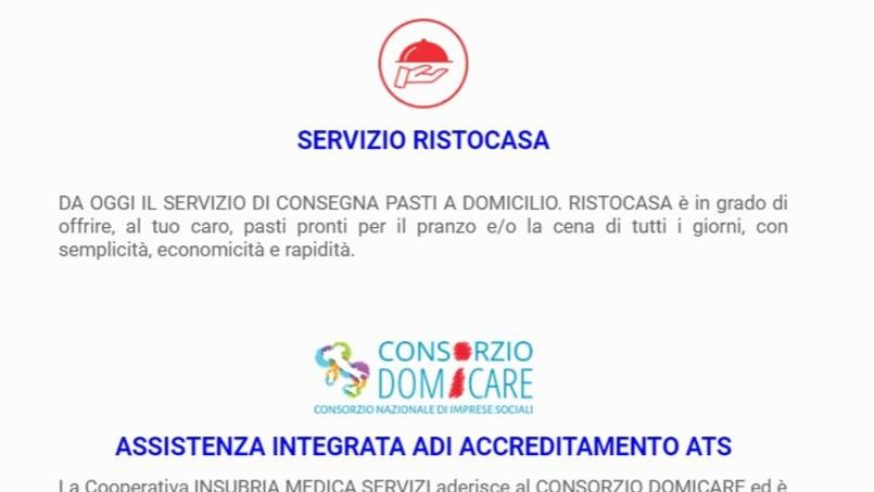 Insubria Medica: servizio Ristocasa