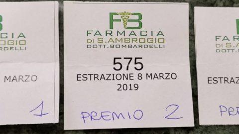 Farmacia Bombardelli: i biglietti vincenti